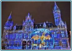 Gent mit Lichterfest und Graffiti